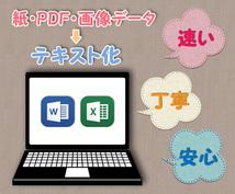 紙・PDF・画像データのテキスト化を承ります 最短即日納品可!パソコン作業が苦手でお困りの方、お急ぎの方へ
