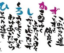 お名前の一文字、一文字を織り込み言葉をお作りします ご結婚、ご出産、ご長寿やお誕生日のお祝いに。