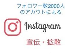 Instagramを使って2000人に宣伝します Instagramを駆使して一気に拡散します!