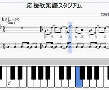 応援歌楽譜pdfをお送りします ドレミ・トランペット指番号(運指)・タブ譜、オプション豊富!