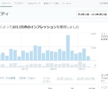 1年間毎日1回、月間インプレッション200万超のツイッターアカウントでつぶやき続けます