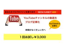 音源・動画からの文字起こしでSEO記事化をします YouTube動画から記事化して、SEO記事コンテンツを!