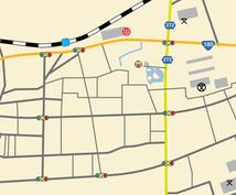 イラレでチラシ用の地図作成します 見やすい、わかりやすい地図で集客しよう!
