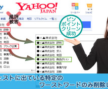 Yahoo検索窓のネガティブワード削除します ネガティブワード消し放題!業界最安プラン☆最短4日で削除