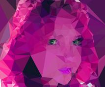 ポリゴンスタイルの似顔絵を制作します おしゃれなイメージに仕上げます。アイコンなどにいかがでしょう