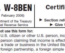 W-8BEN(米国非居住者免税)フォームの入力の仕方を教えます。