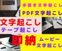 PDFからの文字起こし(最短半日納期)承ります A4サイズ1枚のPDF書類からの文字起こしします!