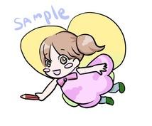 妖精化(似顔絵風可)アイコン描きます お子様やお友達に!妖精に変身したイラストを作成します。