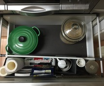収納場所の写真をもとに具体的な片付け作業手順と収納の提案をします