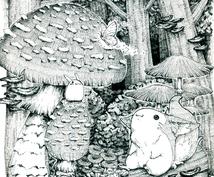 カットイラストや小説表紙に使えるイラスト描きます 絵本風の可愛い&ちょっとダークな絵はいかがですか?