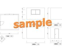 サッと測った寸法をCAD図に作成します 部屋の家具配置で寸法が欲しい時に便利です