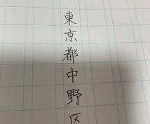 名前や住所等を美文字で代筆させていただきます 字が上手く書けない方の代わりに、お手本を書かせて頂きます。