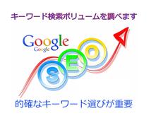 キーワードの検索ボリュームを調べます アクセスアップ・売上アップはキーワード攻略が必須です