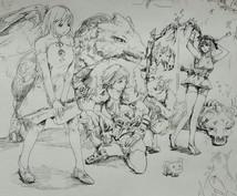 アナログイラストを描きます 小説の挿し絵などもかかせていただきます