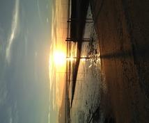 夕陽の写真を撮ります。