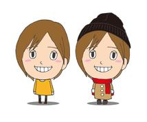 キセカエ似顔絵「ゆるっとフェイス」描きます ゆるい似顔絵キャラクター制作いたします!(キセカエ似顔絵)