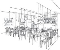 20坪以下の店舗のスケッチパースを描きます あなたのアイディアをカタチにします。