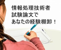 情報処理技術者試験(PM・SA)論文添削します 自分の経験で大丈夫?と不安な方に!あなたの経験引き出します!