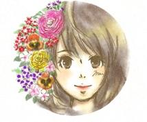 貴方の写真・誕生花・名前でイラストを描きます プレゼントや自分だけのオリジナルのアイコンが欲しい人へ!