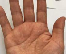 手相を拝見します 手相による年齢診断です。手の平の線で診断をします。
