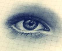あなたの写真を元に目玉(片目)をリアルに描きます(・∀・)プロフィール画像等にいかがですか?