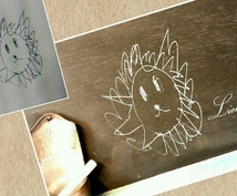 写メでOK!!☆お子様が描いた絵に色付け&デザイン編集☆~子供の作品をアートにしよう~