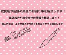 日本語⇆英語 日常の英語のお困り事を翻訳します 旅行、飛行機、恋愛、メール、飲食、個人的なことの翻訳