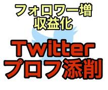 Twitterのプロフィール添削をします 「フォロワーの増やし方」から「マネタイズ特化型」まで