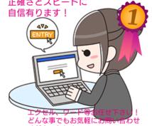 A4二枚千円!データ入力お手伝いします 正社員経理歴20年のベテラン!正確さとスピードに自信があり!