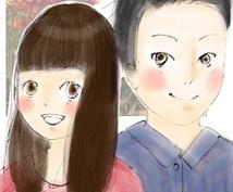 柔らかいタッチの、漫画のような似顔絵を描きます!