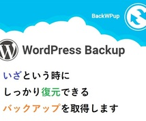 WordPressのバックアップ・復元を代行します WordPress のプロが対応で安心!すべて丸投げ可!