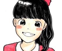 色鉛筆で優しいタッチの似顔絵を描きます 【すべて手作業だから、あたたかい作品に仕上がります♪】