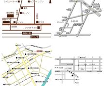 修正回数無制限!店舗・事務所・会場案内地図作ります ちょっと変わった8bitや立体風地図も可です。