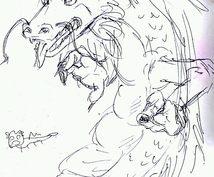 漫画風水彩画アイコン描きます