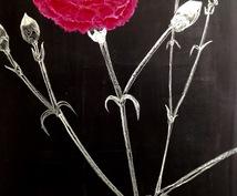 チョークを使った黒板アートでイラスト描きます プレゼント、チラシ、動画用、カフェメニュー等に♪