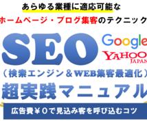 SEO超実践マニュアル!検索エンジン対策が学べます ※こちらは弊社サービスをご利用された方限定の特別なページです