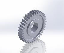 標準平歯車のインボリュート歯型作成します。