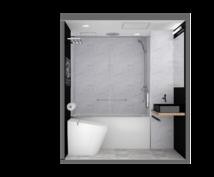 商業施設・トイレ等の3D鳥瞰・内観パース作成します 現役の建築士、建築施工管理技士が「絵が描けない」をお手伝い