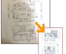 平面図作成します マイホームの間取りイメージや不動産・賃貸の広告に【二級建築士