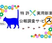 日本国内の特許・実用新案公報を調査します 思いついた技術や気になる技術に関し公知な内容を知りたい時に!