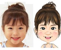 2名刺・広告等ご利用ください。似顔絵を描きます お写真通りに似顔絵をお描きします! (コミカルタイプ)
