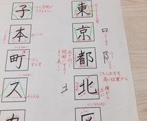 あなたの【お名前・ご住所】お手本解説 作成致します 美文字になりたい方!お子様の学習にも!