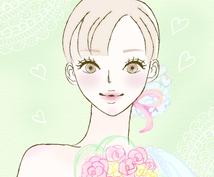 オシャレイラスト(バストアップ)を制作します 美容、ファッション系におススメ!大人の女性向け!