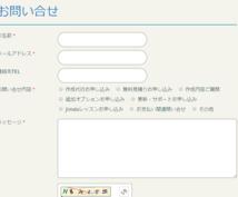 Jimdoサイトのメールフォーム設置代行します 【Jimdoページをお持ちの方】各項目のカスタマイズもOK!