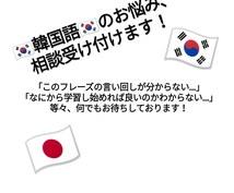 韓国語学習での悩み、相談、問題解決致します 韓国語学習において生じる悩みや相談事、問題を解決致します!