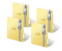 様々な圧縮ファイルを普通のZIPで提供します 7z、rarなど開けない圧縮ファイル解凍代行します!