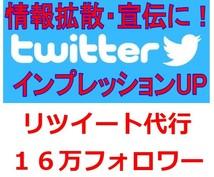Twitter16万フォロワーに3リツイートします ツイートのインプレッションを増やしたい人にオススメです!!