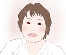 シンプルかわいい似顔絵描きます お写真をもとに、シンプルなタッチでお描きします