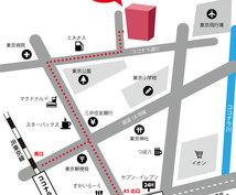 超速!大好評! アイコン付きカラー 地図作ります 情報を整理し手書き地図をキレイにプロがデザインします!