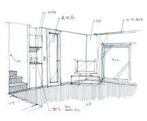 手描きのスケッチパースを描きます 建築や内装の完成イメージを、より分かりやすく表現します。